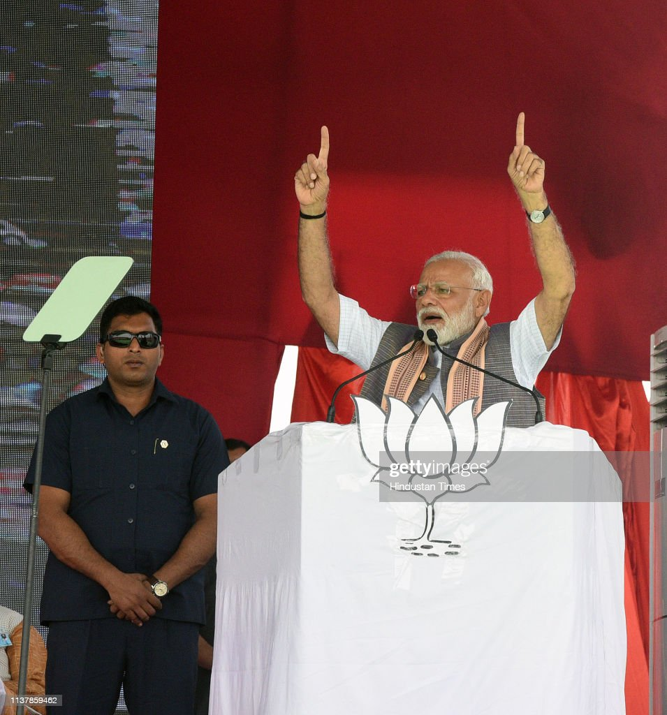 IND: Prime Minister Narendra Modi Addresses An Election Campaign Rally In Akluj