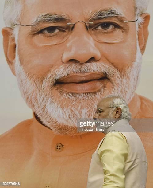 Prime Minister Narendra Modi during the Akhil Bharatiya Prachaarya Sammelan organized by the Vidya Bharati Akhil Bharatiya Shiksha Sansthan at Vigyan...