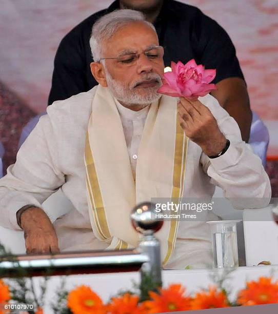 Prime Minister Narendra Modi during the BJP public meeting on September 24 2016 in Kozhikode India Modi targeted Pakistan on Saturday saying there is...
