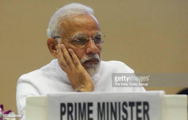 Prime Minister Narendra Modi during World Biofuel Day at Vigyan Bhawan in New Delhi