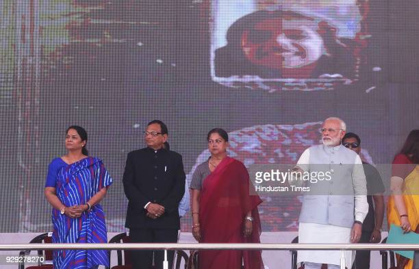 Prime Minister Narendra Modi launches National Nutrition Mission on March 8 2018 in Jhunjhunu India Prime Minister Narendra Modi announced the...