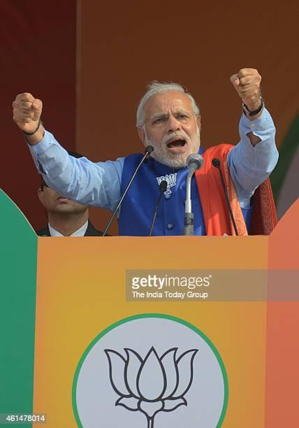 Prime Minister Narendra Modi's addressing at BJP's Abhinandan rally in New Delhi