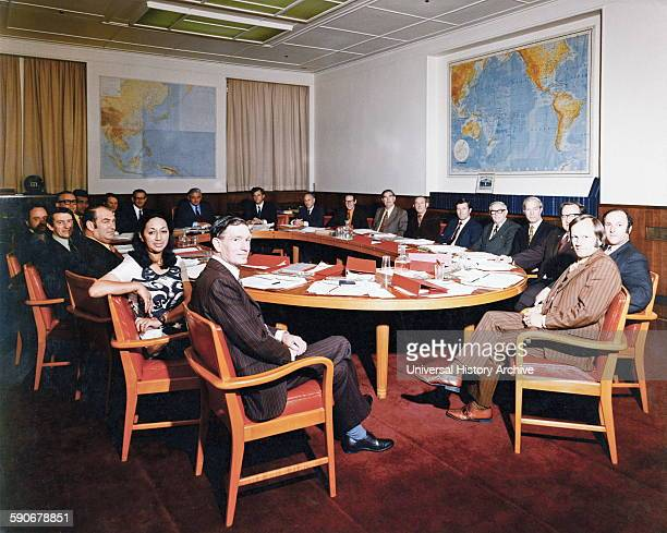 Prime Minister Norman Kirk and New Zealand Cabinet 1972
