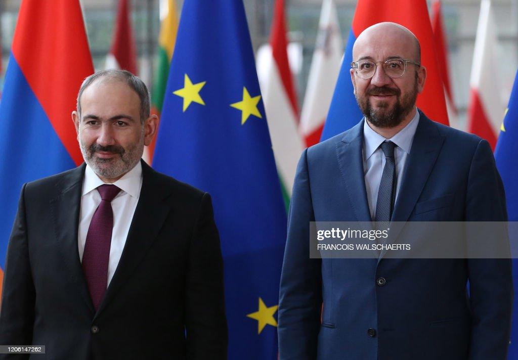 BELGIUM-EU-ARMENIA-DIPLOMACY : News Photo