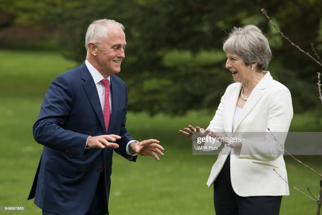 Australian Prime Minister Joins Theresa May At Chequers