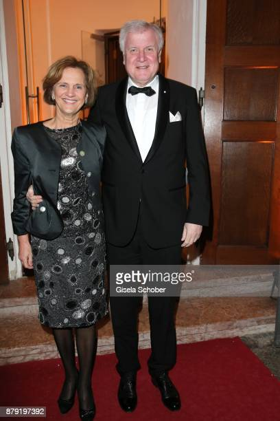 Prime minister of Bavaria Horst Seehofer and his wife Karin Seehofer during the 80th birthday party of Roland Berger at Cuvillies Theatre on November...
