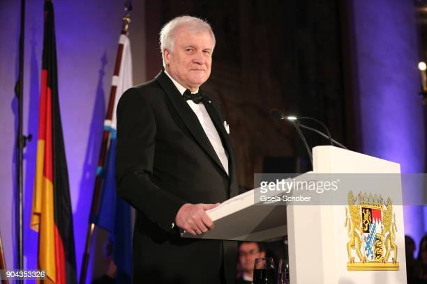 Prime minister of Bavaria Horst Seehofer during the new year reception of the Bavarian state government at Residenz on January 12 2018 in Munich...