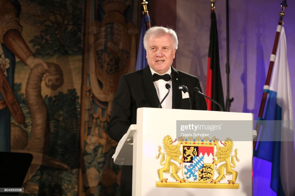 Prime minister of Bavaria Horst Seehofer during the new year reception (Neujahrsempfang) of the Bavarian state government at Residenz on January 12, 2018 in Munich, Germany.