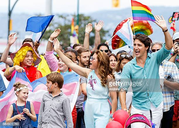 Prime Minister of Canada Justin Trudeau, wife Sophie Gregoire Trudeau, oldest son Xavier James Trudeau and daugther Ella-Grace Margaret Trudeau...