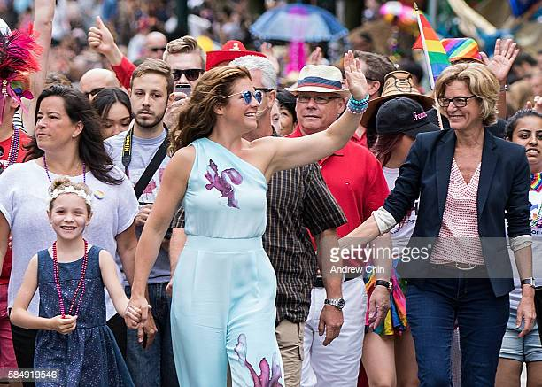 Prime Minister of Canada Justin Trudeau's wife Sophie Gregoire Trudeau and daughter Ella-Grace Margaret Trudeau attend the 38th Annual Vancouver...