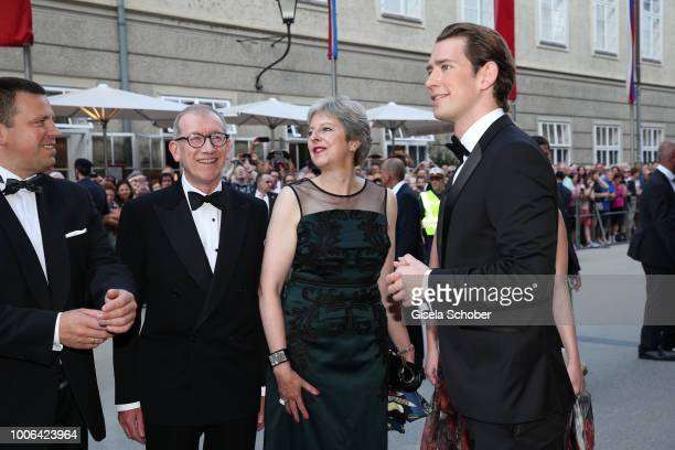 Prime Minister of Estonia Jueri Ratas Prime Minister of Great Britain Theresa May and her husband Philip May Chancellor of Austria Sebastian Kurz and...