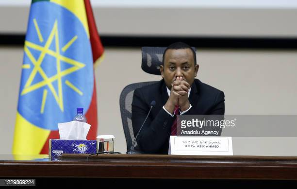 Prime Minister of Ethiopia, Abiy Ahmed addresses the House of Peoples' Representatives in Addis Ababa, Ethiopia on November 30, 2020.
