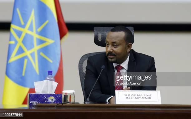 Prime Minister of Ethiopia, Abiy Ahmed addresses the House of Peoples' Representatives in Addis Ababa, Ethiopia on November 30, 2020. We have...