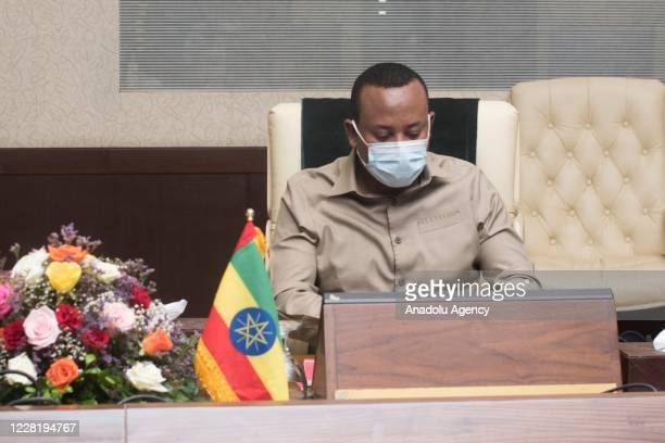 Prime Minister of Ethiopia Abiy Ahmed meets Prime minister of Sudan Abdalla Hamdok on august 25, 2020 in Khartoum, Sudan.