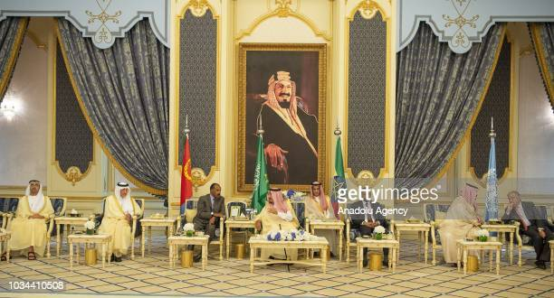 Prime Minister of Ethiopia Abiy Ahmed President of Eritrea Isaias Afwerki and Crown Prince and Defense Minister of Saudi Arabia Mohammad bin Salman...