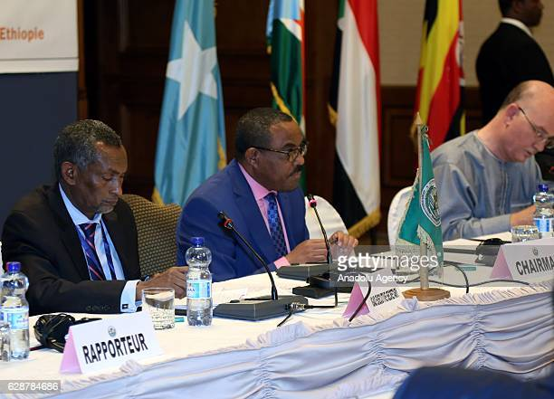 Prime Minister of Ethiopia Hailemariam Desalegn delivers a speech during the 29th Intergovernmental Authority on Development summit in Addis Ababa...