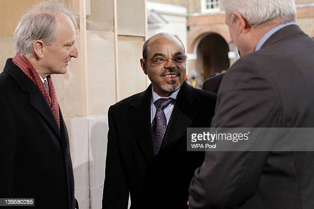 Prime Minister of Ethiopia Meles Zenawi arrives for the Somalia Conference at Lancaster House on February 23 2012 in London United Kingdom Britain's...