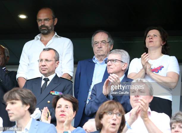 Prime Minister of France Edouard Philippe President of French Football Federation FFF Noel Le Graet French Minister of Sports Roxana Maracineanu...