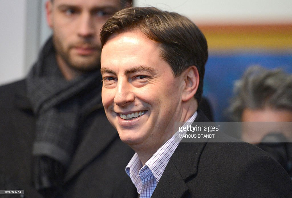 Prime Minister of German Federal State, Lower-Saxony, David McAllister poses for photographers at a polling station on January 20, 2013 on polling day in Bad Bederkesa, Germany (Lower Saxony).