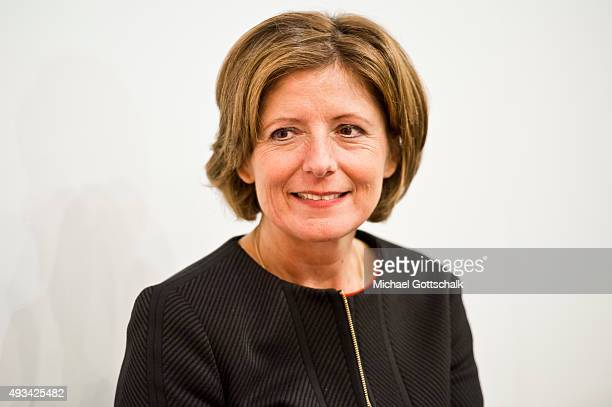 Prime Minister Of German State of RhinelandPalatinae Malu Dreyer attends a panel discussion at Frankfurt Book Fair on October 15 2015 in Frankfurt...