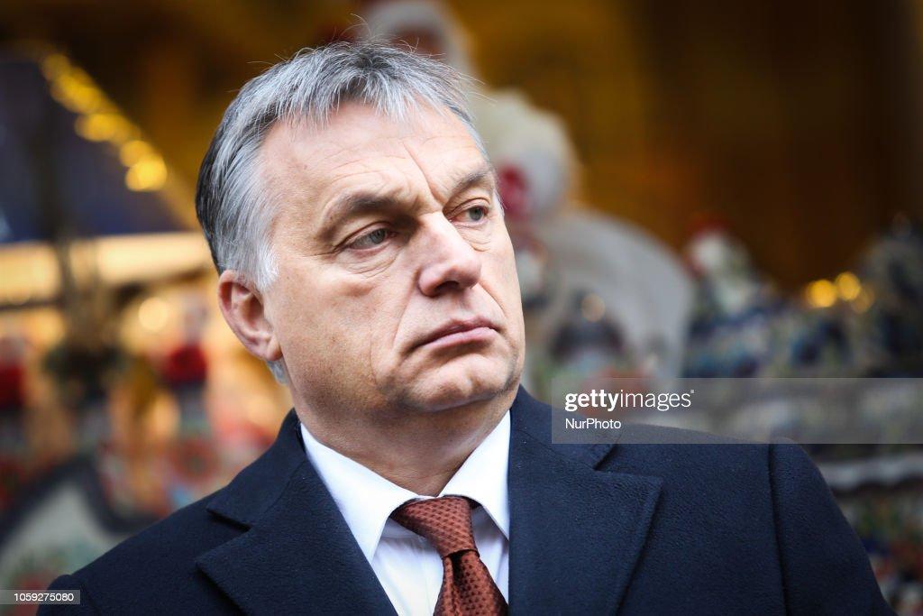 Viktor Orban Visits Krakow : News Photo