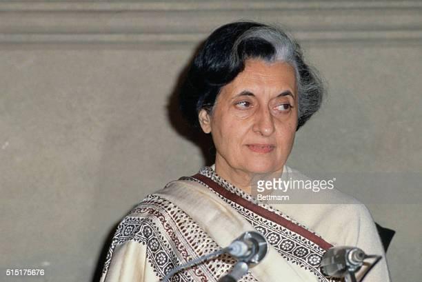 Prime Minister of India, Indira Gandhi.