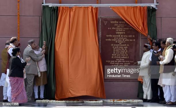 Prime Minister of India Narendra Modi BJP National President Amit Shah Senior BJP Leader LK Advani Union Home Minister Rajnath Singh Minister of...