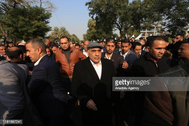 Prime Minister of Iraq Adil Abdul-Mahdi attends the funeral ceremony of Qasem Soleimani, commander of the Iranian Revolutionary Guards' Quds Forces,...