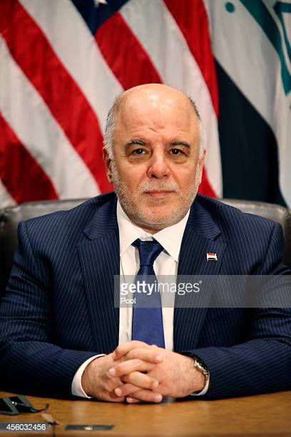 Prime Minister of Iraq Haider alAbadi attends a bilateral meeting with US President Barack Obama during the 69th United Nations General Assembly at...