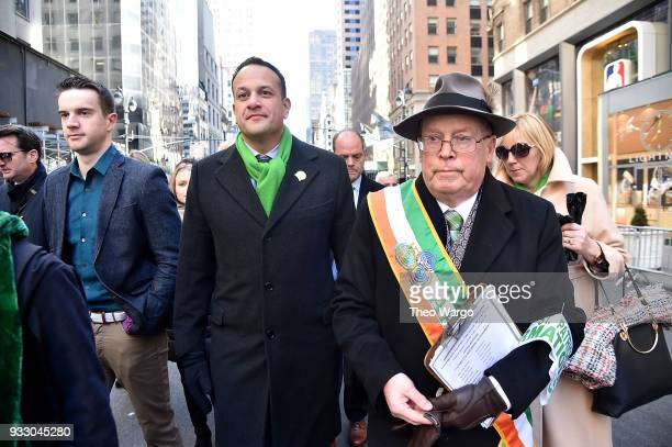 Prime Minister of Ireland Leo Varadkar attends the 2018 New York City St Patrick's Day Parade on March 17 2018 in New York City