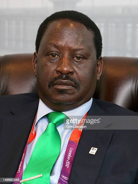 Prime Minister of Kenya Raila Odinga visits Kenya National House on August 8 2012 in London England