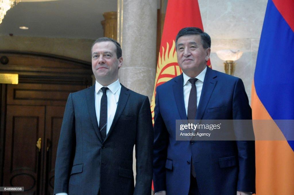 Eurasian Economic Union (EEU) meeting in Bishkek : News Photo