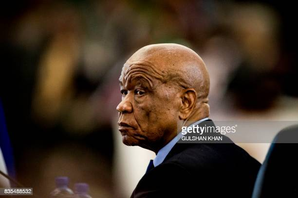 Prime Minister of Lesotho, Thomas Motsoahae Thabane is seated at the Opening Session of the 37th Southern African Development Community Summit of...