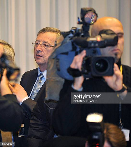 Prime Minister of Luxembourg and Eurogroup chairman JeanClaude Juncker arrives on February 9 2009 before a Eurogroup meeting at the European...