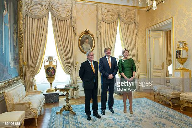 Prime Minister of Luxembourg JeanClaude Juncker King WillemAlexander of The Netherlands and Queen Maxima of The Netherlands meet at the Palace of The...