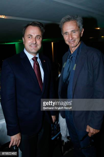 Prime Minister of Luxembourg Xavier Bettel and actor Thierry Lhermitte attend the 22th Edition of ''Les Sapins de Noel des Createurs Designer's...