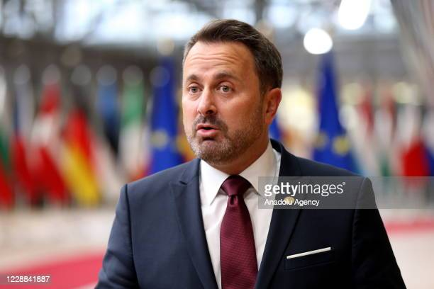 Prime Minister of Luxembourg Xavier Bettel attends the European Union Leaders' Summit in Brussels, Belgium on October 01, 2020.