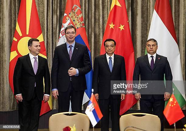 Prime Minister of Macedonia Nikola Gruevski Serbia's Prime Minister Aleksandar Vucic Chinese Prime Minister Li Keqiang and Prime Minister of Hungary...