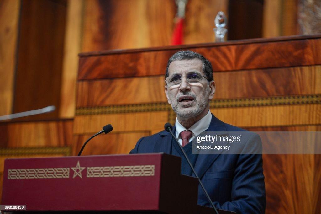 Prime Minister of Morocco Saadeddine Othmani... : News Photo