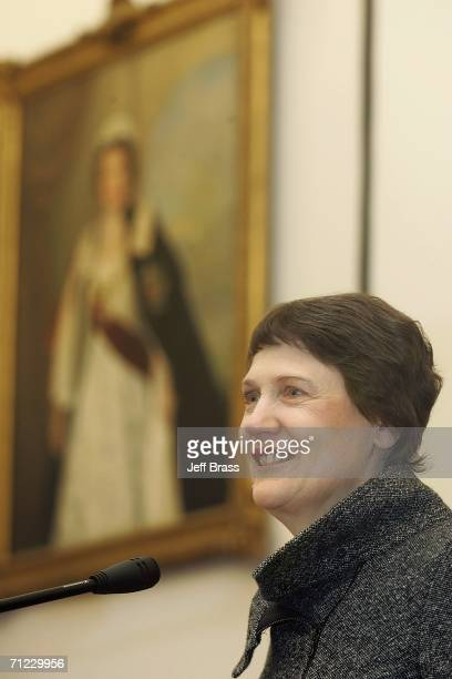 Prime Minister of New Zealand Helen Clark speaks at the signing of a film collaboration agreement between Mediacorp Raintree and Eyeworks Touchdown...
