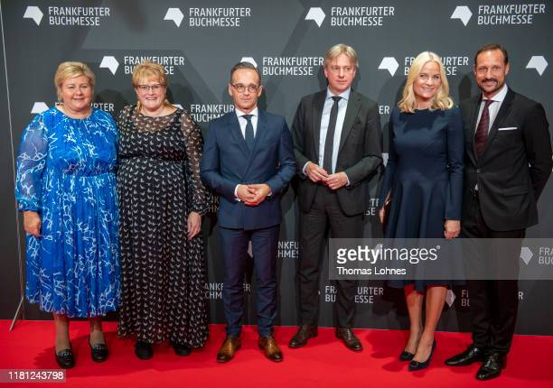 Prime Minister of Norway Erna Solberg, Minister of Culture of Norway Trine Skei Grande, German Foreign Minister Heiko Maas, director of the Book Fair...