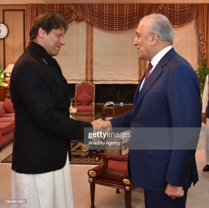 Imran Khan - Zalmay Khalilzad meeting : News Photo