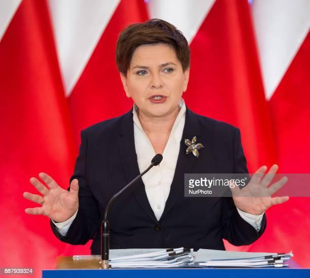 Prime Minister of Poland Beata Szydlo in Warsaw Poland on 26 February 2016