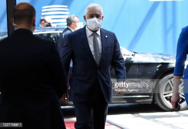 Prime Minister of Portugal Antonio Costa attends European Union Leaders Summit in Brussels Belgium on July 20 2020 The leaders of the 27 EU member...