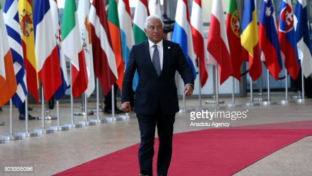 Prime Minister of Portugal Antonio Costa attends the EU members' informal meeting of the 27 heads of state or government at European Council...