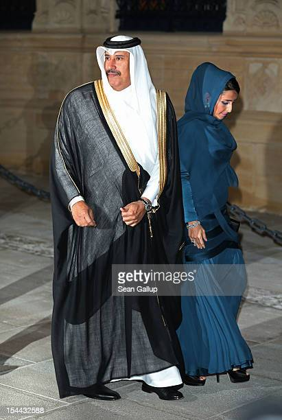 Prime Minister of Qatar Sheikh Hamad bin Jassim bin Jaber Al Thani and guest attend the Gala dinner for the wedding of Prince Guillaume Of Luxembourg...