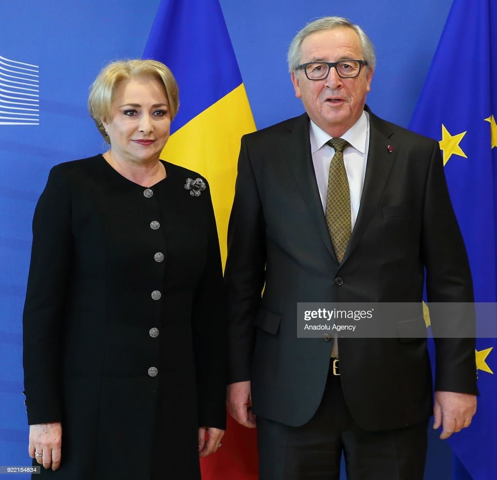 Viorica Dancila - Jean-Claude Juncker meeting in Brussels : News Photo