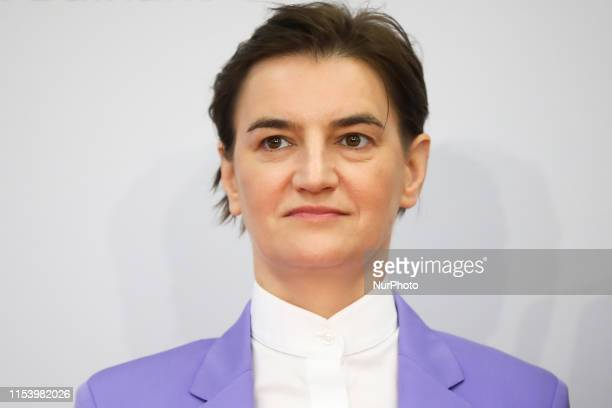 Prime Minister of Serbia Ana Brnabic during Western Balkans Summit at the Poznan International Fair in Poznan Poland on 5 July 2019