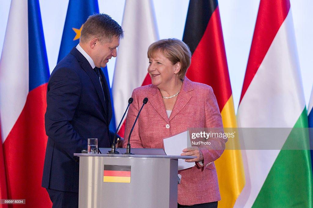 Prime Minister of Poland Beata Szydlo meets Angela Merkel