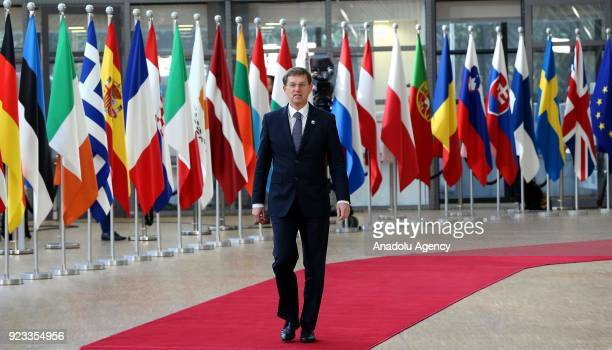 Prime Minister of Slovenia Miro Cerar attends the EU members' informal meeting of the 27 heads of state or government at European Council...